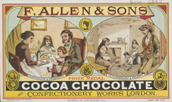 Advert For F. Allen & Sons, Confectionery Works